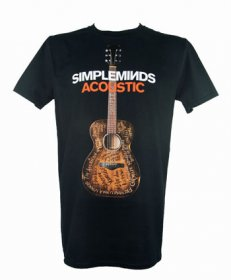Acoustic Album T Shirt With Tour Date Back Print