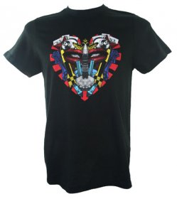 Black Graffiti Heart T Shirt