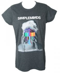 Ladies Fitted Walk Between Worlds T Shirt In Negative With Summer Tour Date Back Print