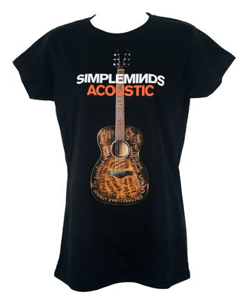Ladies Acoustic Album T Shirt With Tour Date Back Print