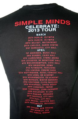 Celebrate UK Spring Tour Dates T Shirt