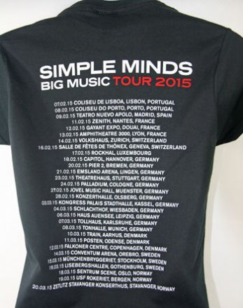 Ladies Black Big Music Tour T Shirt with European Tour Date Back Print