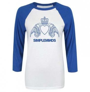 Blue & White Wings Baseball T-shirt