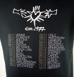 Black 2009 Tour T Shirt
