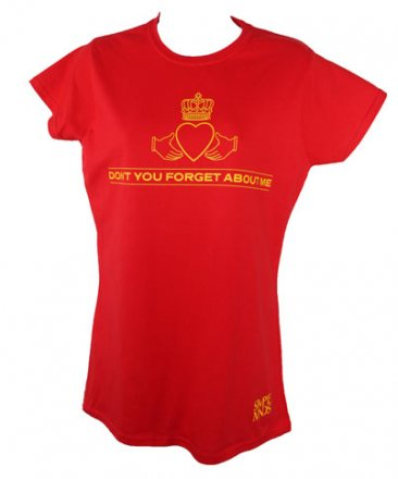 Ladies Red Lyric T Shirt