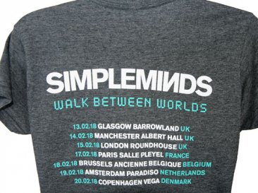 Ladies Fitted Walk Between Worlds T Shirt In Negative With February Tour Date Back Print